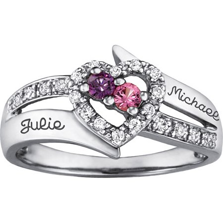 Personalized Family Jewelry Enchantment Promise Ring available in Sterling Silver, Gold and White (Sesame Ring)