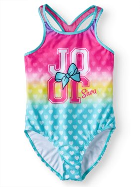 JoJo Rainbow Heart One-Piece Swimsuit (Little Girls & Big Girls)