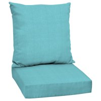 Mainstays Solid Turquoise 48 x 24 in. Outdoor Deep Seating Cushion Set