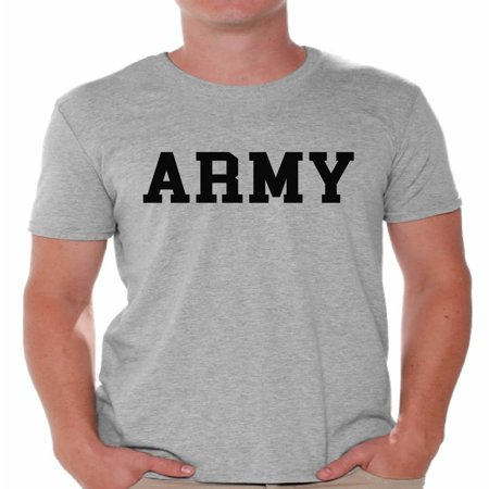 Awkward Styles Army Tshirt Army Shirts for Men Army Gifts for Him Men's Army Outfit Army Training Shirt Military T Shirt (Mens Army Gear)