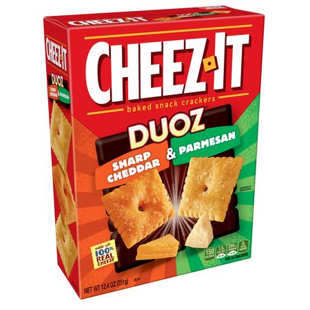Cheez-It Duoz Baked Sharp Cheddar & Parmesan Snack Crackers, 12.4 Oz. - No Bake Halloween Snacks