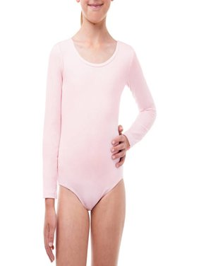 Girls' Long Sleeve Leotard with Front Liner (Little & Big Girls)