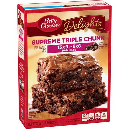 Halloween Brownies Betty Crocker ((4 Pack) Betty Crocker Delights Triple Chunk Supreme Brownie Mix, 21)