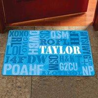 """Personalized Text Speak Doormat, 17"""" x 27"""""""