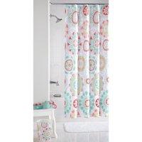 Mainstays™ Groovy Medallion Fabric Shower Curtain