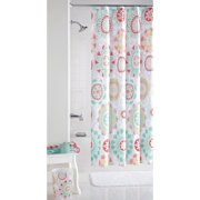 Mainstays™ Groovy Medallion Fabric Shower Curtain