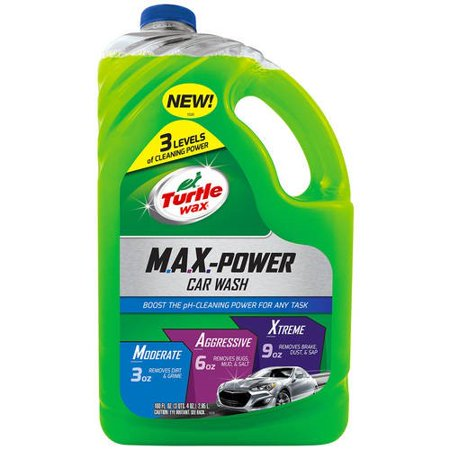 Turtle Wax Max-Power Car Wash, 100 oz Car Wash Detailing Supplies