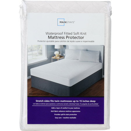 - Mainstays Waterproof Fitted Soft Knit Mattress Protector, 1 Each