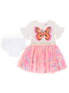 Short Sleeve Jersey & Tulle Sparkle Tutu Dress (Baby Girls & Toddler Girls)