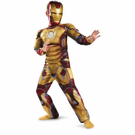Iron Man Mark 42 Child Halloween Costume](Marshmallow Man Costume Kids)