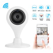 Wireless WiFi IP CCTV Camera Indoor Security Pan Tilt Night Vision Cam HD 360° Rotate