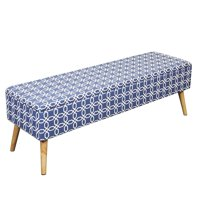 Otto & Ben - Easy Lift Top Upholstered Ottoman Storage Bench, Multiple Colors