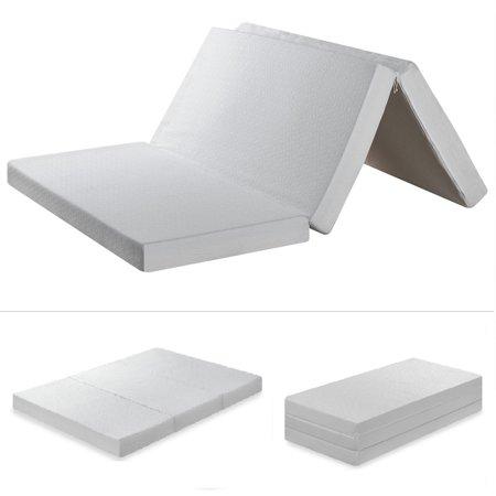 Best Price Mattress 4 Inch Trifold Memory Foam Mattress Multiple