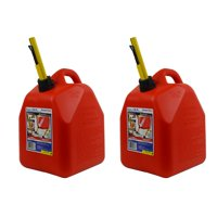 Scepter 5 Gallon EPA and CARB Ameri Can Gas Can w/ Spill Proof Spout (2 Pack)