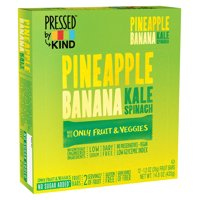 Pressed by KIND, Pineapple Banana Kale Spinach, Gluten Free, 12 Ct