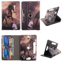 "Brown Horse tablet case 8 inch  for HP Slate S8 8"" 8inch android tablet cases 360 rotating slim folio stand protector pu leather cover travel e-reader cash slots"
