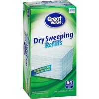 Great Value Dry Sweeping Refills, 64 Count