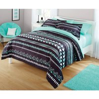 Your Zone Mint Grey Tribal Comforter Set, 1 Each