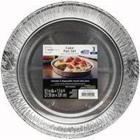 Round Aluminum Cake Pan, 3 Pack