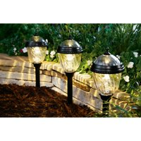 Better Homes and Gardens 4-Piece Castlewood Solar-Powered Landscape Light Set