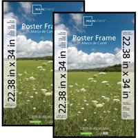 Mainstays 22x34 Basic Poster and Picture Frame, Black, Set of 2