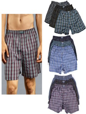180a72f0ae7a Product Image 6 Men Knocker Boxer Trunk Plaid Shorts Underwear Cotton Briefs  Elastic 3XL 50-52