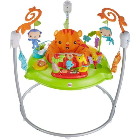 Fisher-Price Tiger Time Jumperoo with Music, Lights & Sounds - Kiss Panda Jumper