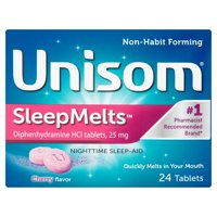 Unisom SleepMelts Cherry Flavor Diphenhydramine HCl Tablets, 24ct