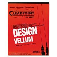 Clearprint Design Vellum Paper, 16lb, White, 8-1/2 x 11, 50 Sheets/Pad