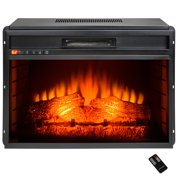 """AKDY 33"""" FP0060 Freestanding Black Push Button Control Insert Electric Fireplace Stove w/ Log Bed & Remote"""