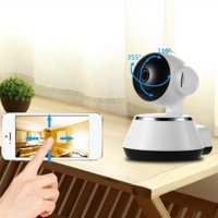 Clearance! Wireless Wi-Fi Baby Monitor Alarm Home Security IP Camera HD 720P Night Vision White Baby Monitors On Sale