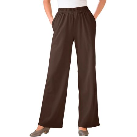 - Woman Within Plus Size Tall 7-day Knit Wide Leg Pant