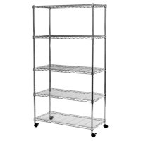"14""D x 30""W x 60""H 5-Tier Steel Wire Shelving System by Seville Classics"