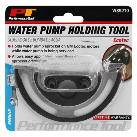 - Performance Tool W89210 Water Pump Sprocket Holder For GM Ecotec (GM 2.2L and 2.4L Chevrolet, Oldsmobile, Saturn, Pontiac Ecotec engines)