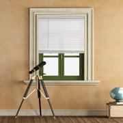 Mainstays 1 inch Cordless Light Filtering White Vinyl Window Blinds-