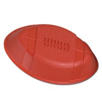 "Plastic Football 12"" Formed Serving Tray Bowl, 6 Pack, Super Bowl Party Supplies"