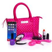 68cf1d162 PixieCrush Pretend Play Kid Purse Set for Girls with Handbag, Pretend Smart  Phone, Keys. Price