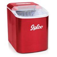 Igloo 26 lb. Capacity Countertop Ice Maker ICEB26RR, Retro Red