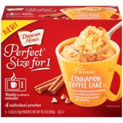 (6 Pack) Duncan Hines Perfect Size for One Sunrise Cinnamon Coffee Cake Mix 4-2.58 oz Box