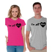 329a13897878 Awkward Styles Couple Shirts I'm All His I'm All Hers Matching T