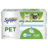 Swiffer Sweeper Pet Heavy Duty Wet Mopping Cloths with Febreze Odor Defense, 32 count