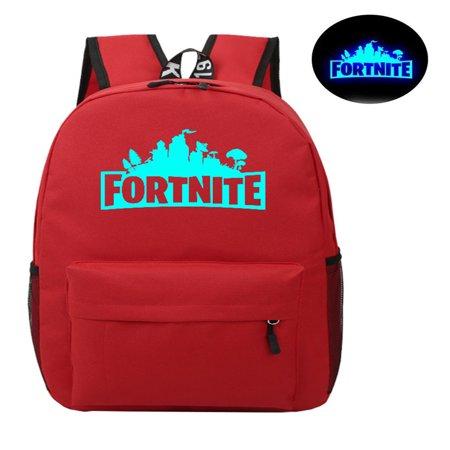 Game Fortnite Battle Royale Backpack Luminous Fortnite School Bags Red](Black Spike Backpack)