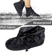 6da859ee16d3 IClover 360 Degree Waterproof Rainproof PVC Fabric Zippered Shoe Covers  Rain Boots Overshoes Protector Bike Motorcycle