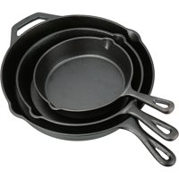 3-Piece Ozark Trail Pre-Seasoned Cast Iron Skillet Set