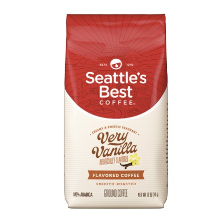 Hazelnut Flavored Fresh Roasted Coffee (Seattle's Best Coffee Very Vanilla Flavored Medium Roast Ground Coffee, 12-Ounce)