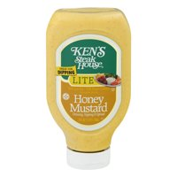 (2 Pack) Ken's Steak House: Honey Mustard Dressing Topping & Spread Lite, 24 Fl Oz