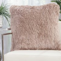 Elegant Faux Fur Throw Pillow Collection