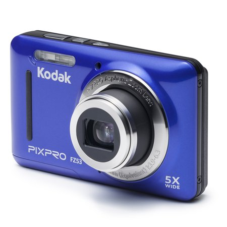 - KODAK PIXPRO FZ53 Compact Digital Camera - 16MP 5X Optical Zoom HD 720p Video (Blue)