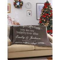 Personalized You Are My Happily Ever After Throw