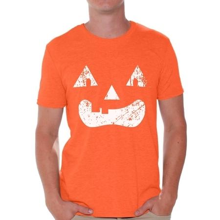 Spooky Halloween Faces (Awkward Styles Pumpkin Face Shirt Halloween Men Shirts Spooky Halloween Shirt Jack O Lantern Shirts Halloween)